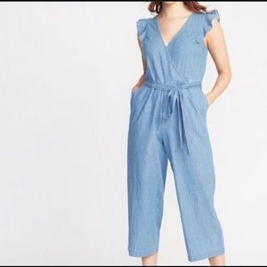 Old Navy | Chambray Flutter Sleeve Jumpsuit tall